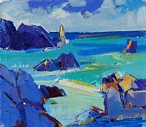 Shoreline Surf, Iona by Marion Thomson