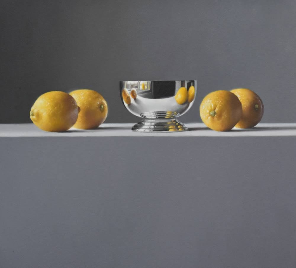 Sicilian Lemons with Silver Cup