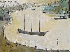 Sitting in Redcliffe Wharf by John Evans