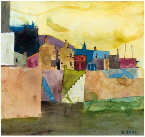 Soft Evening Over Stromness  by David Smith RSW