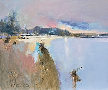 Spring Light St Anthony-in-Meneage by Peter Wileman FROI RSMA FRSA