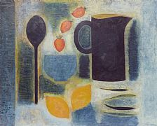 Still Life With Strawberries and Lemons by Vivienne Williams RCA