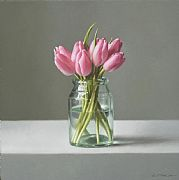 Still Life with May Tulips by Lucy  McKie ROI