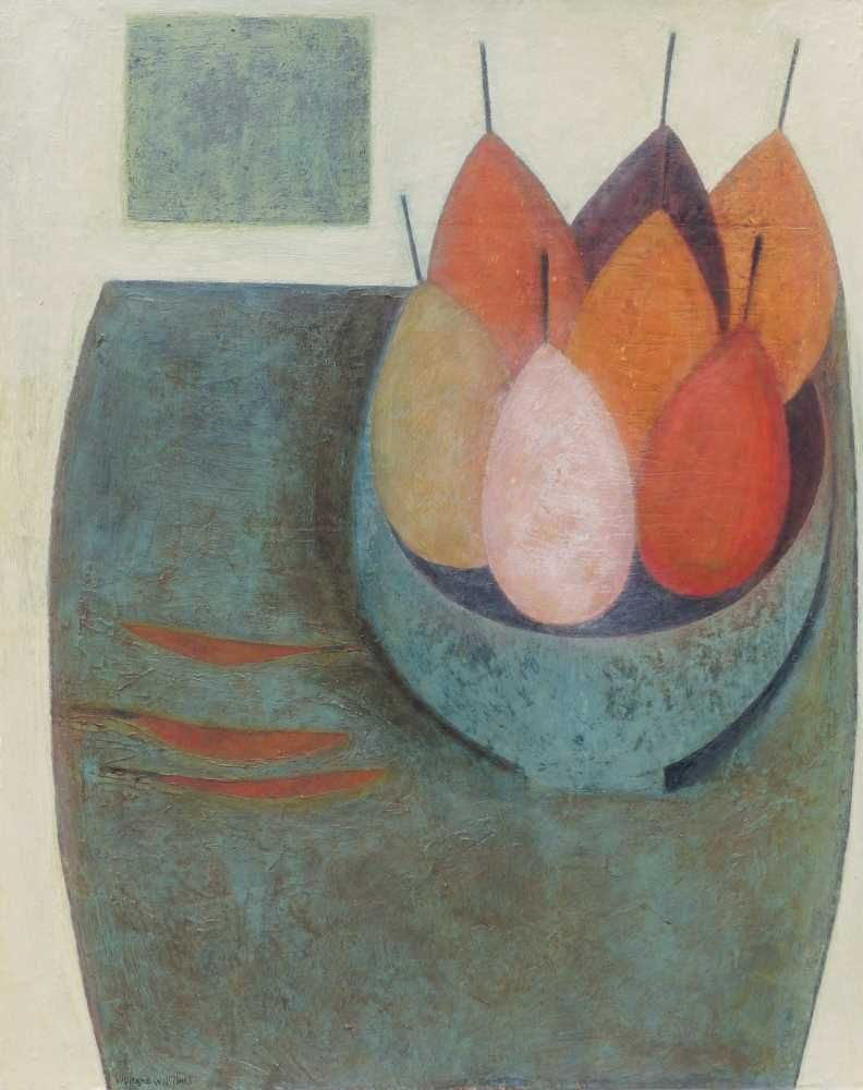 Still Life with Pears and Chillies  by Vivienne Williams RCA