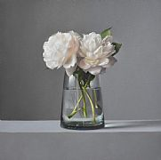 Still Life with Peonies by Lucy  McKie ROI