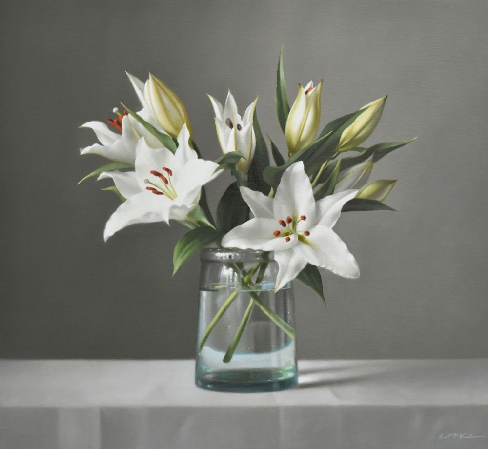 Still Life with White Lilies
