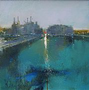 The Thames at Battersea II by Peter Wileman FROI RSMA FRSA