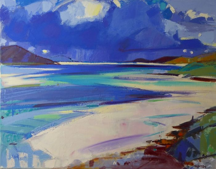 The Incoming Tide, Luskintyre  by Marion Thomson
