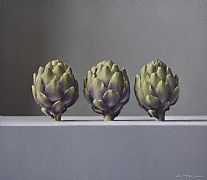 Three Artichokes by Lucy  McKie ROI