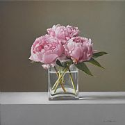 Three Peonies by Lucy  McKie ROI