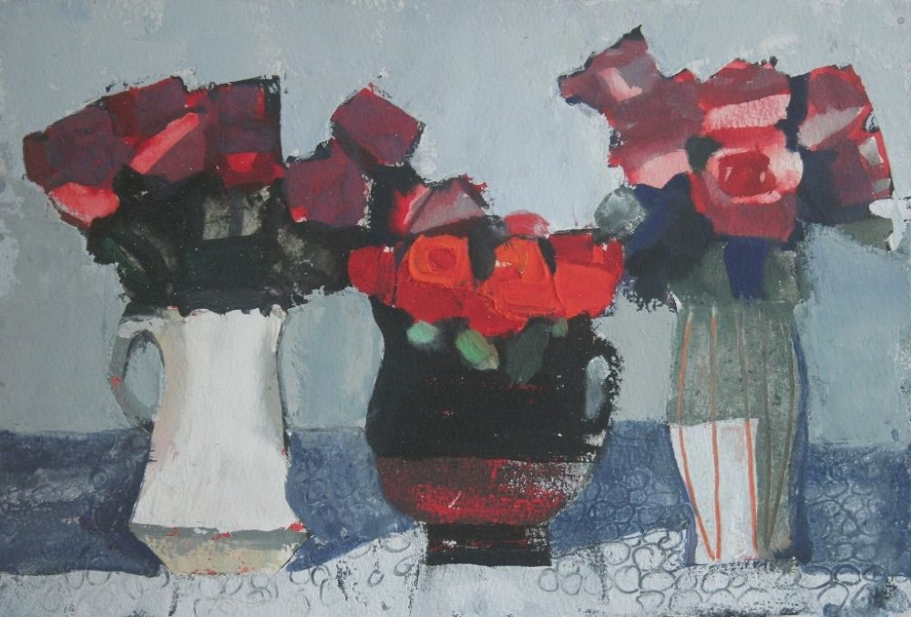 Three Roses  by Mhairi McGregor RSW