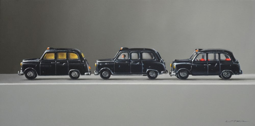 Three Toy Taxis