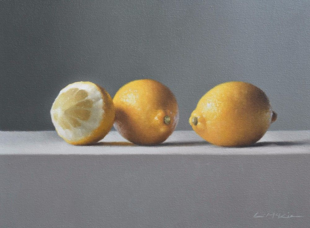 Three Lemons in Morning Light by Lucy  McKie ROI