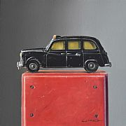 Toy Taxi on Wooden Box by Lucy  McKie ROI