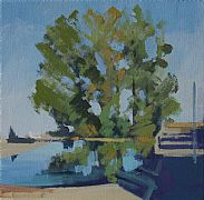 Trees and Duck Pond at Soignolles by Philip Richardson