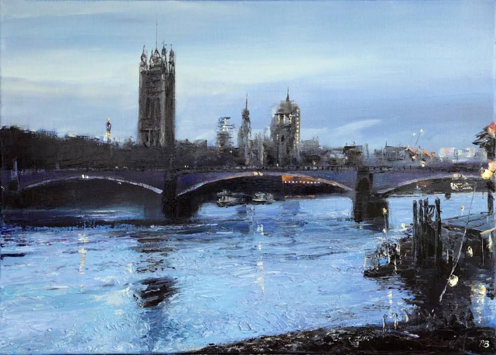 Twilight, Vauxhall Bridge  by David Porteous-Butler