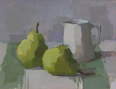 Two Green Pears by Sarah Spackman RBA