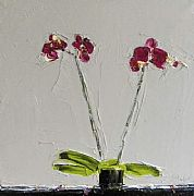 Tyrian Orchid on Grey by Alison McWhirter
