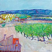 Vineyards, Lezignon by David Smith RSW