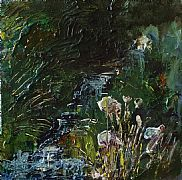 Wells of Arthur's Seat, Stream and Flowers by Rose Strang SSA