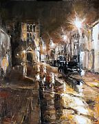 Wet Evening, Churchgate Street by David Porteous-Butler