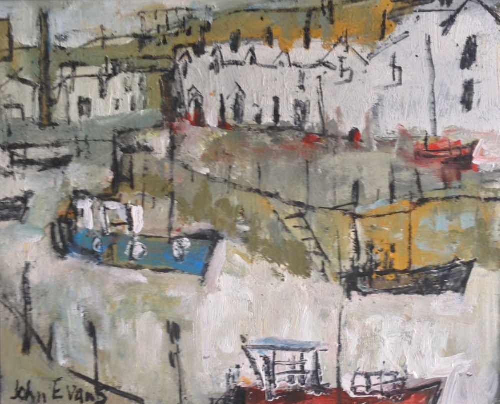 White Cottages near Baltic Wharf  by John Evans