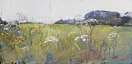 Windmills, Cow Parsley, Barley by Robert Newton