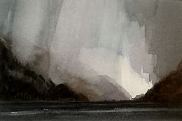 Winter Winds, Loch Long by Gregor Smith RSW