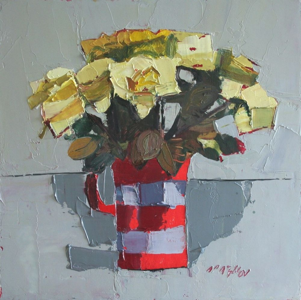 Yellow Roses   by Mhairi McGregor RSW