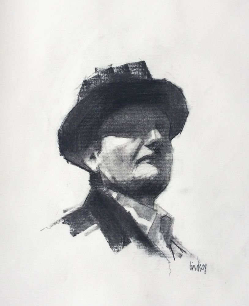 A New Hat, study by Steven Lindsay
