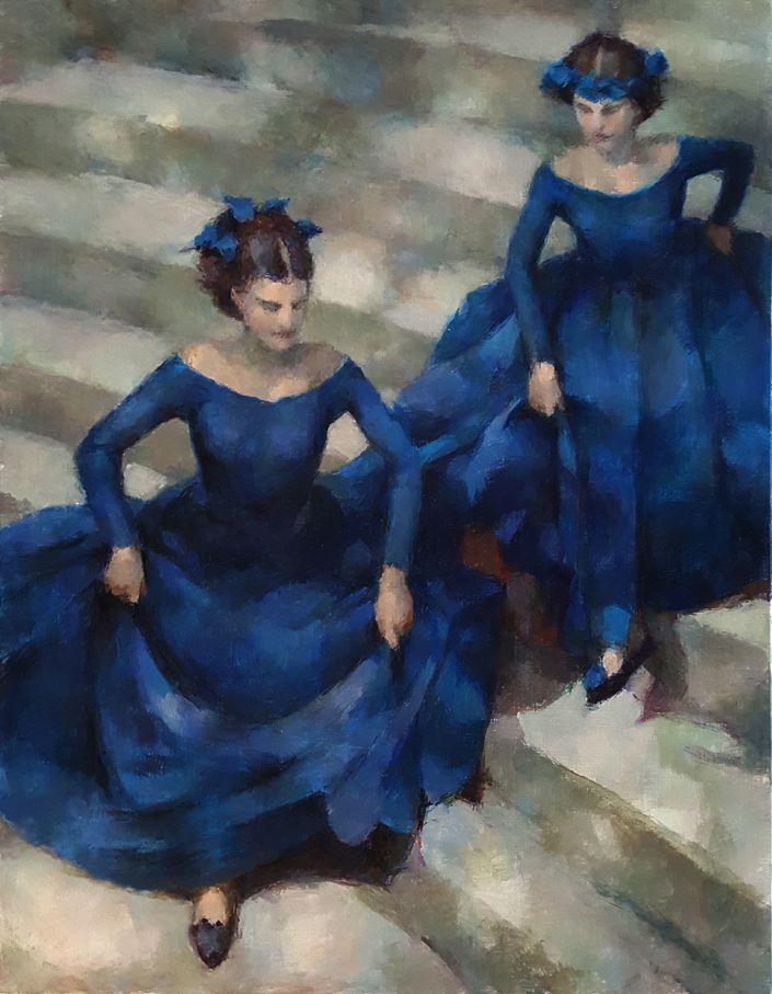 Two Blue Girls